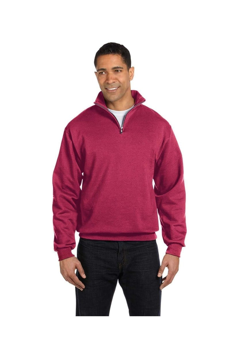 Jerzees 995M: Adult 8 oz. NuBlend(r) Quarter-Zip Cadet Collar Sweatshirt, Basic Colors-Jerzees-Bulkthreads.com