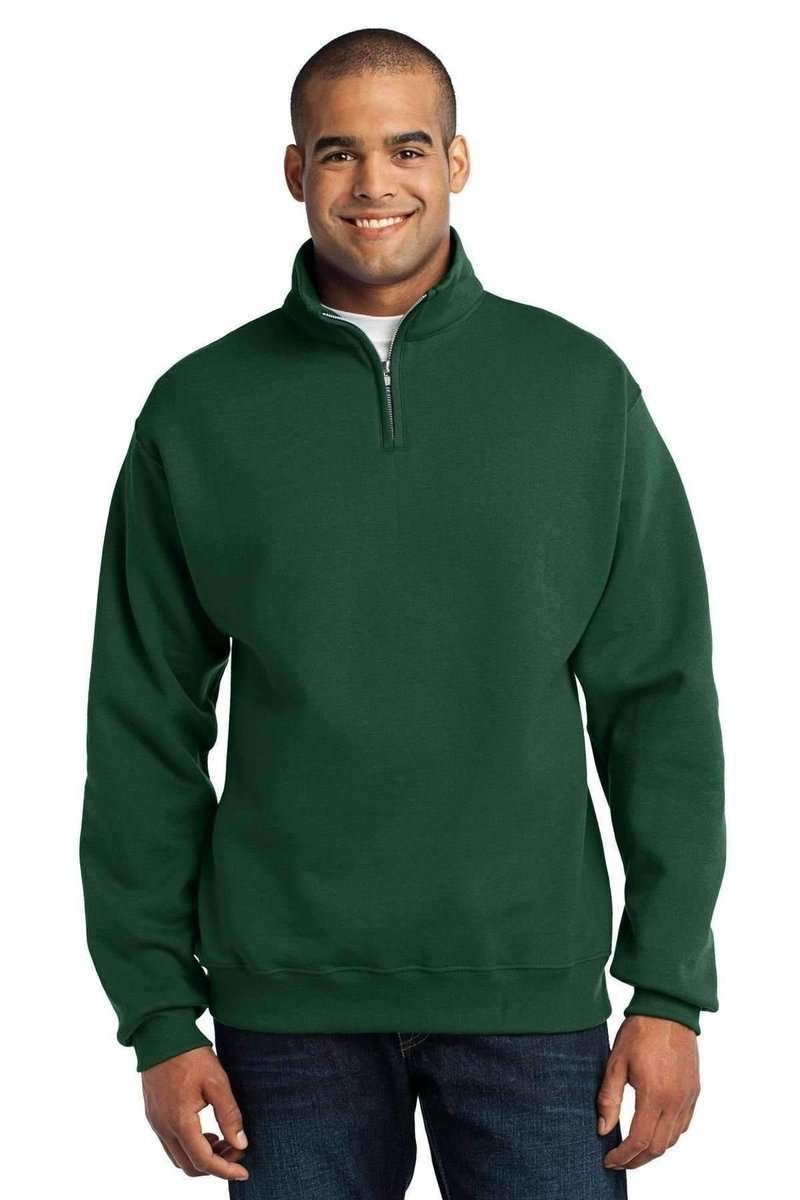 JERZEES 995M: NuBlend 1/4-Zip Wholesale Collar Sweatshirt-Sweatshirts/Fleece-Bulkthreads.com, Wholesale T-Shirts and Tanks