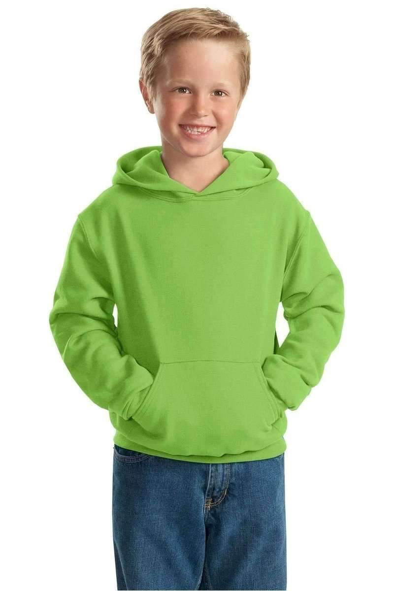 JERZEES 996Y: Youth NuBlend Pullover Hooded Sweatshirt-Sweatshirts/Fleece-Jerzees-Kiwi-S-wholesale t shirts -Bulkthreads.com