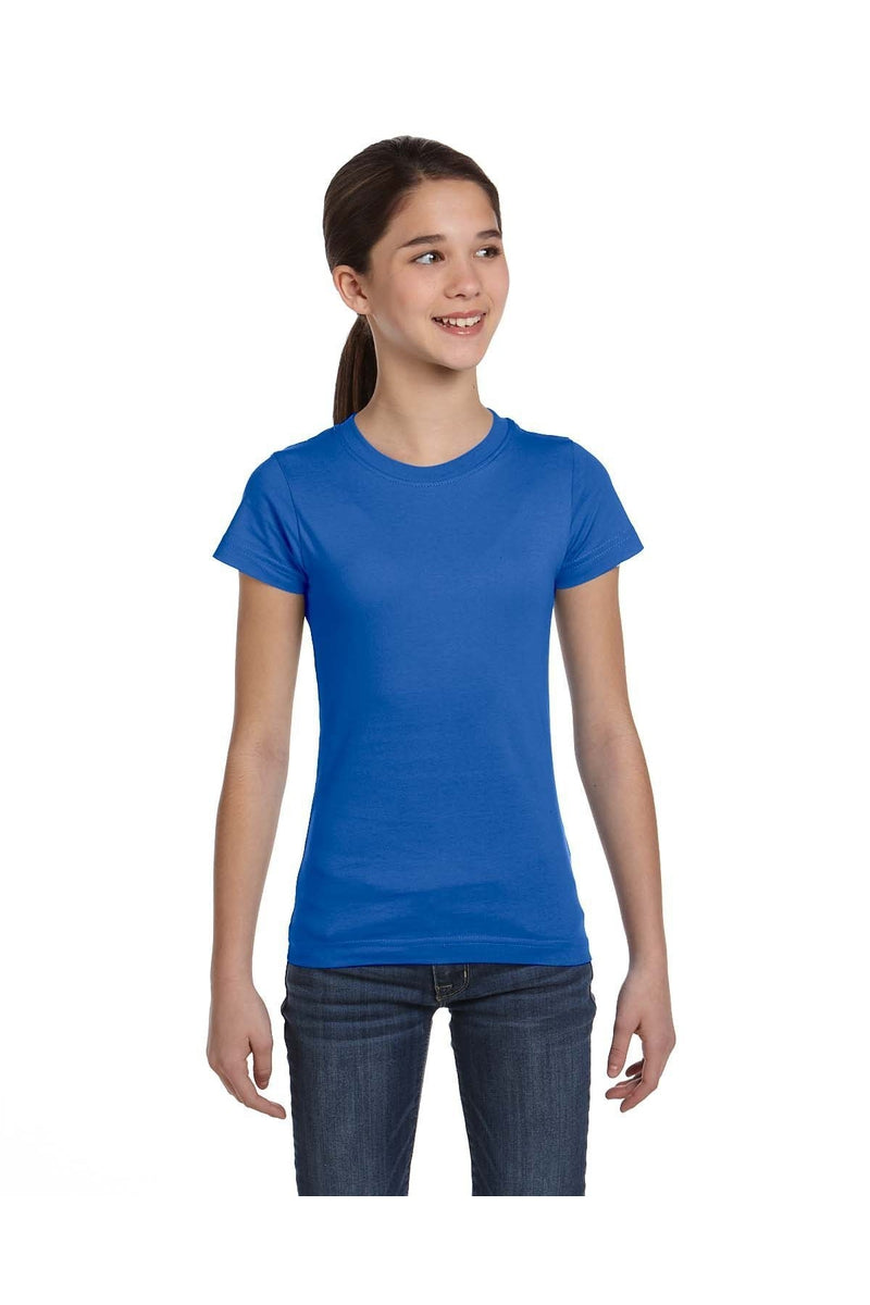 LAT 2616: Girls' Fine Jersey T-Shirt, Basic Colors-T-Shirts-Bulkthreads.com, Wholesale T-Shirts and Tanks