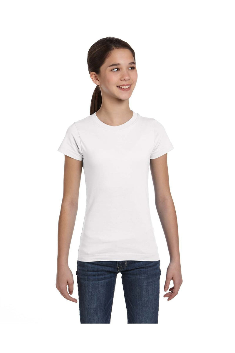 LAT 2616: Girls' Fine Jersey T-Shirt-T-Shirts-Bulkthreads.com, Wholesale T-Shirts and Tanks