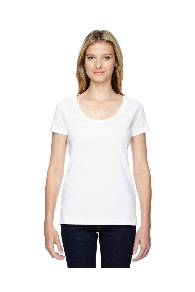 LAT 3504: Ladies' Scoop Neck Fine Jersey T-Shirt-T-Shirts-Bulkthreads.com, Wholesale T-Shirts and Tanks