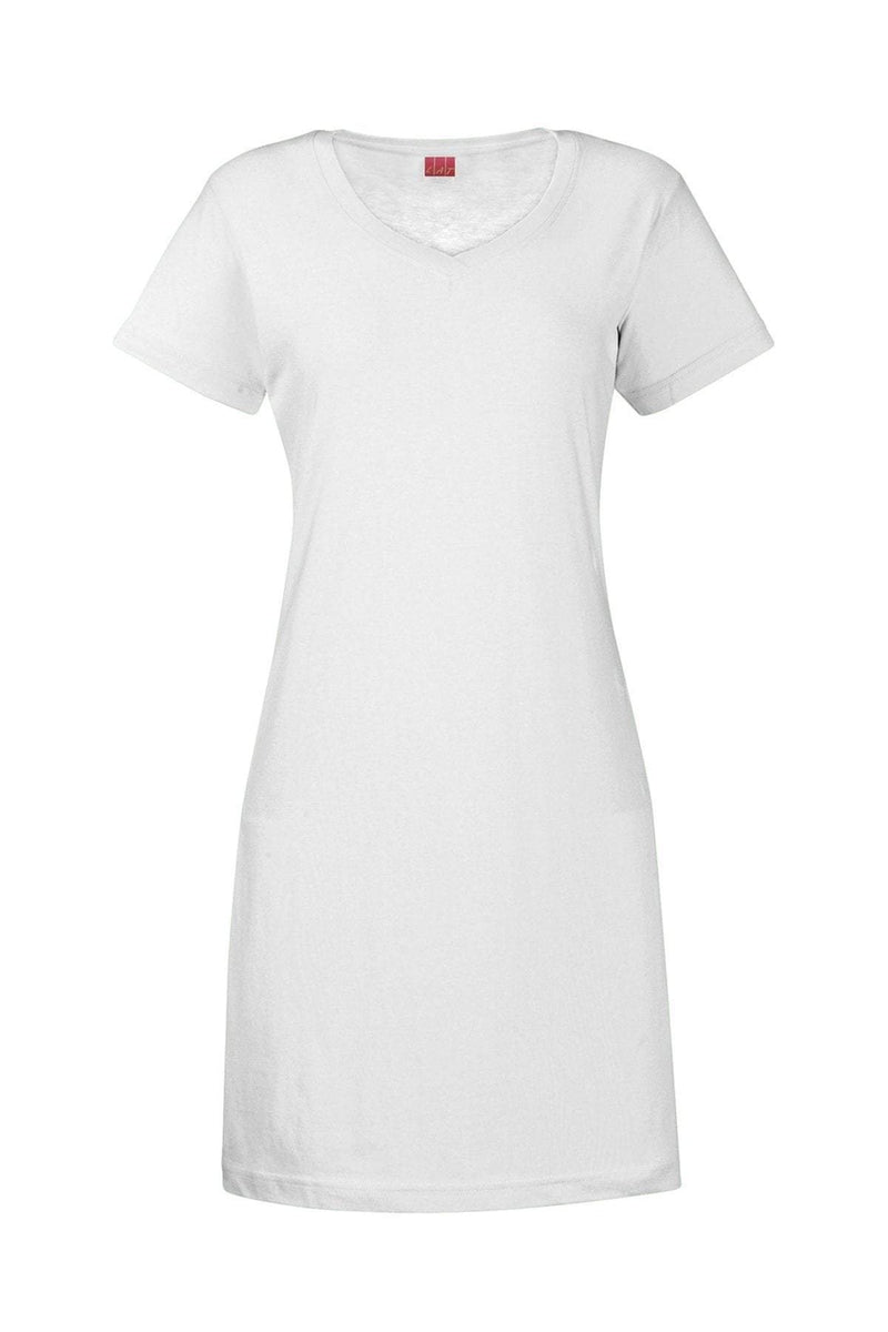 LAT 3522: Ladies' V-Neck Fine Jersey Coverup-T-Shirts-Bulkthreads.com, Wholesale T-Shirts and Tanks