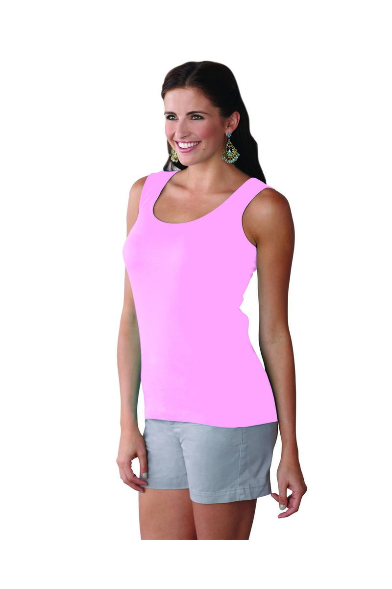 LAT 3590: Ladies' Premium Jersey Tank-T-Shirts-Bulkthreads.com, Wholesale T-Shirts and Tanks