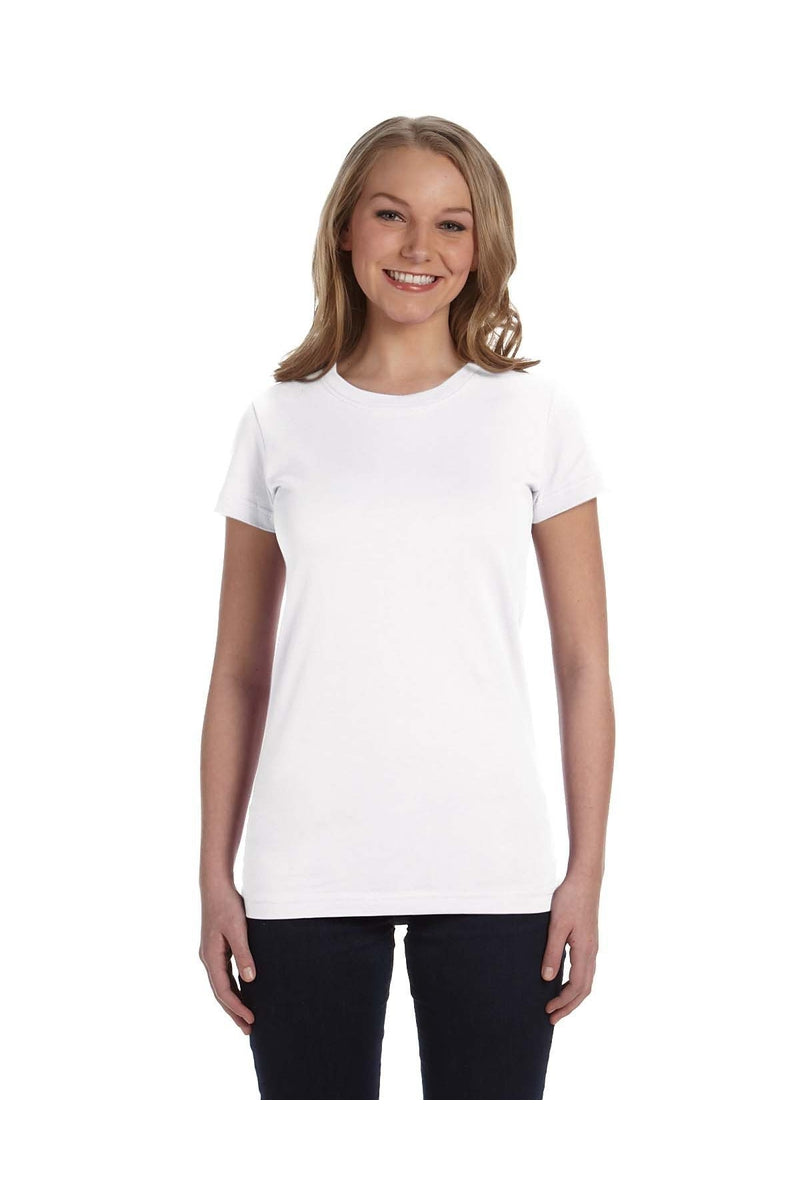 LAT 3616: Ladies' Junior Fit Fine Jersey T-Shirt, Basic Colors-T-Shirts-Bulkthreads.com, Wholesale T-Shirts and Tanks