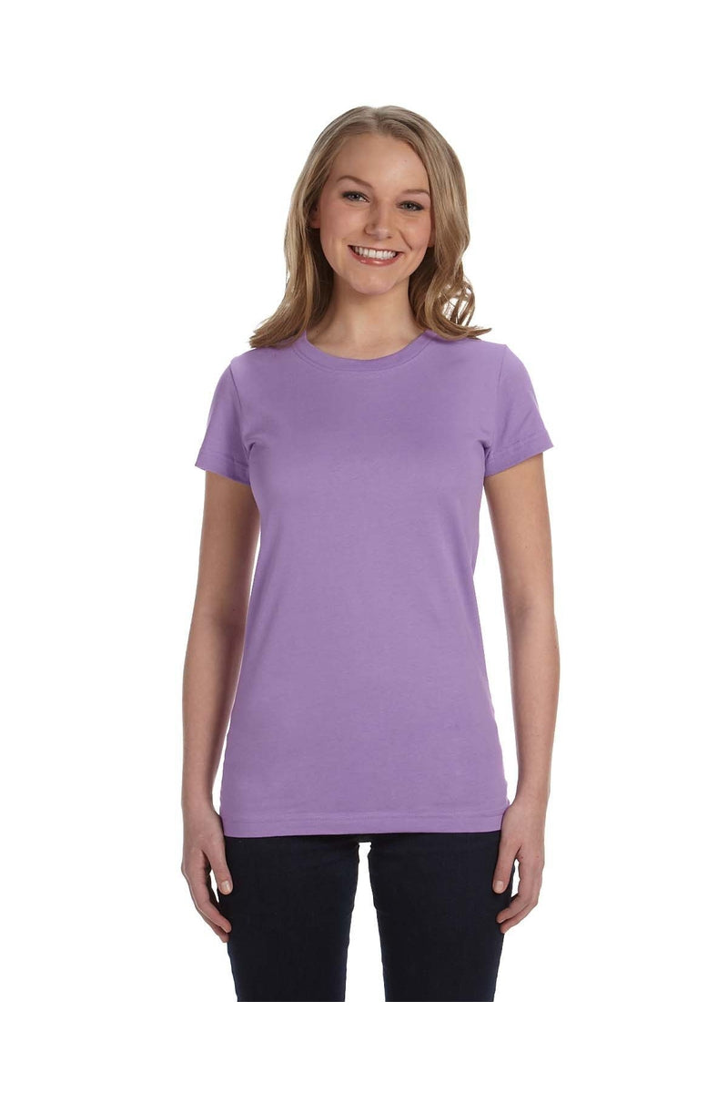 LAT 3616: Ladies' Junior Fit Fine Jersey T-Shirt, Traditional Colors-T-Shirts-Bulkthreads.com, Wholesale T-Shirts and Tanks