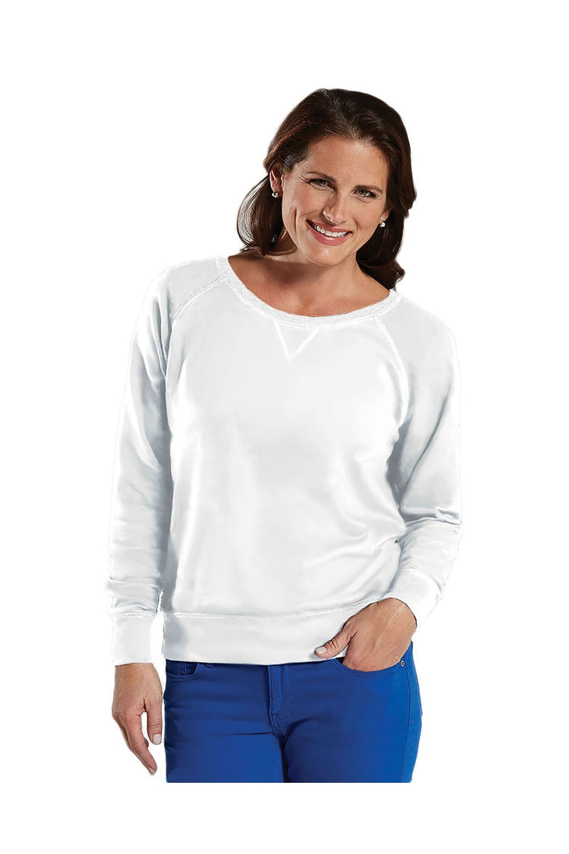 LAT 3762: Ladies' Slouchy French Terry Pullover-Sweatshirts-Bulkthreads.com, Wholesale T-Shirts and Tanks