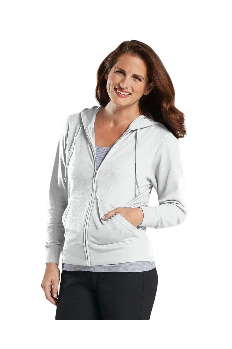 LAT 3763: Ladies' Zip French Terry Hoodie-Sweatshirts-Bulkthreads.com, Wholesale T-Shirts and Tanks
