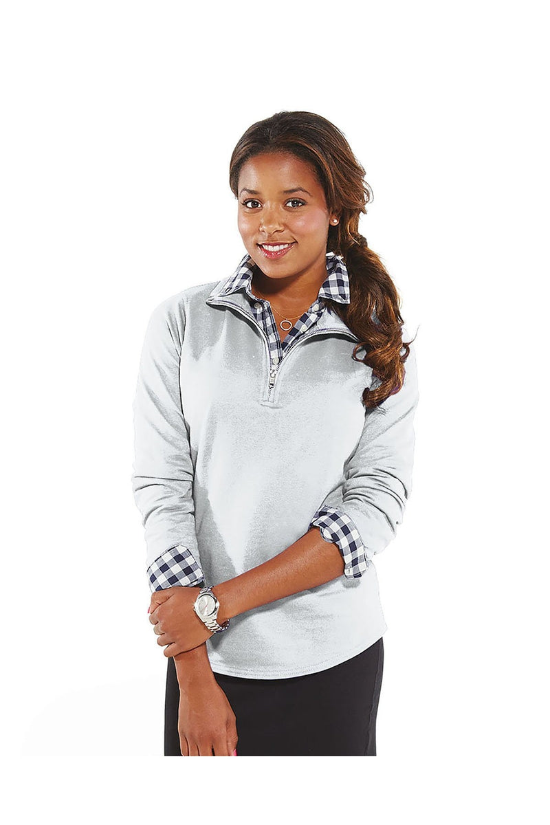 LAT 3764: Ladies' Quarter-Zip French Terry Pullover-Sweatshirts-Bulkthreads.com, Wholesale T-Shirts and Tanks