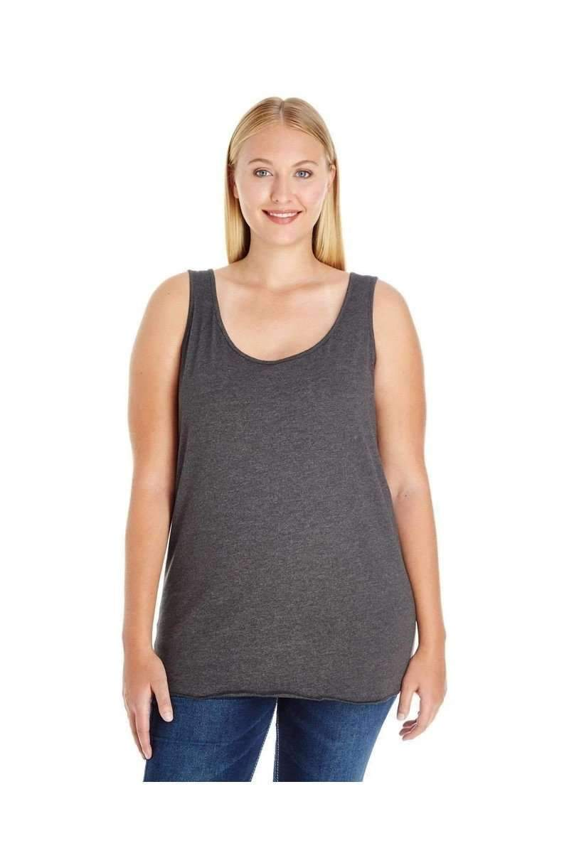 LAT 3821: Ladies' Curvy Premium Jersey Tank Top-Women's Tank Top-LAT-14-16-Smoke-wholesale t shirts -Bulkthreads.com