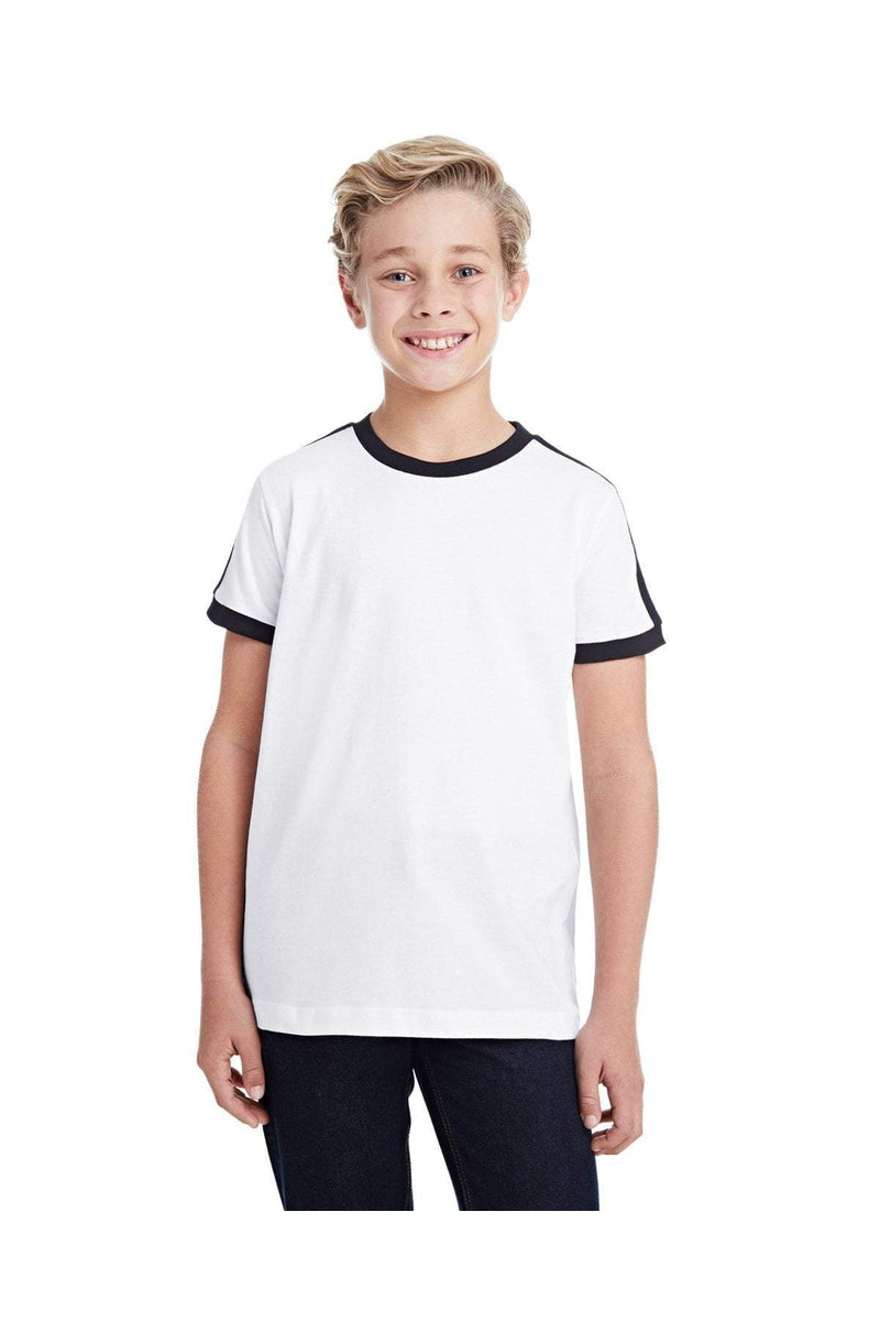 LAT 6132: Youth Soccer Ringer Fine Jersey T-Shirt-T-Shirts-Bulkthreads.com, Wholesale T-Shirts and Tanks