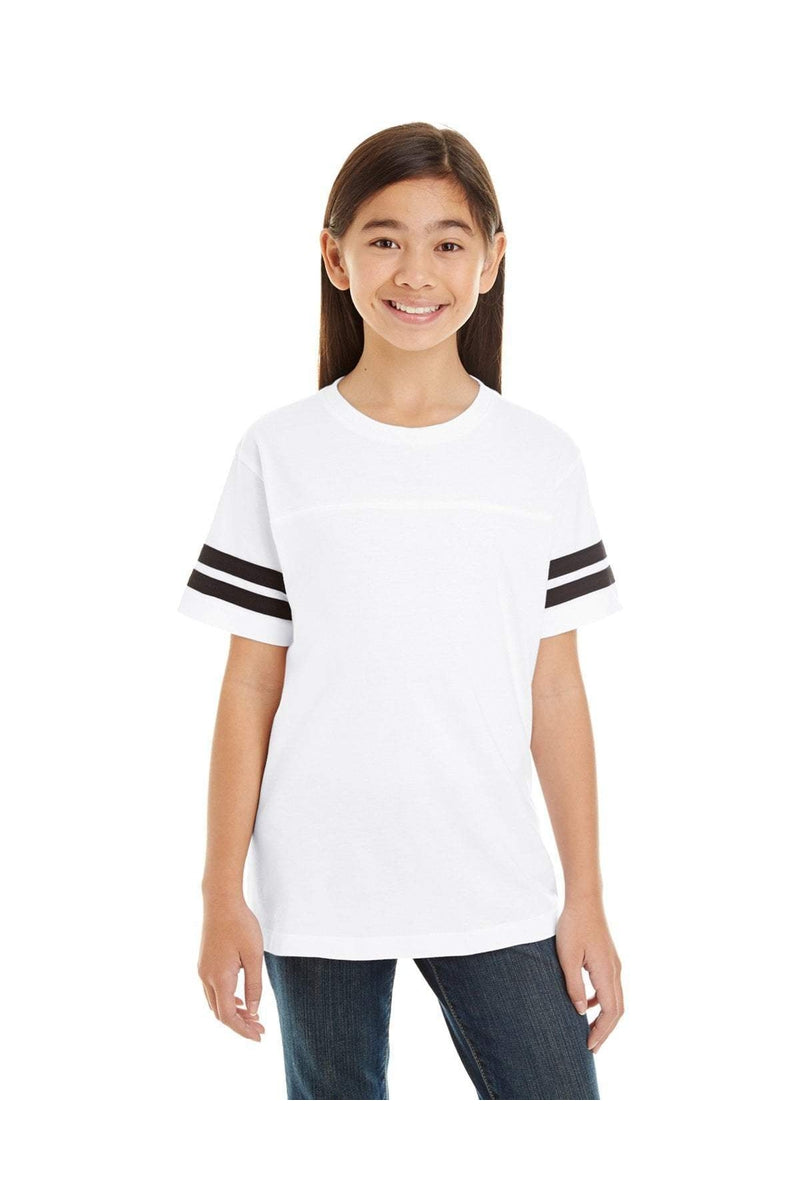 LAT 6137: Youth Football Fine Jersey T-Shirt-T-Shirts-Bulkthreads.com, Wholesale T-Shirts and Tanks