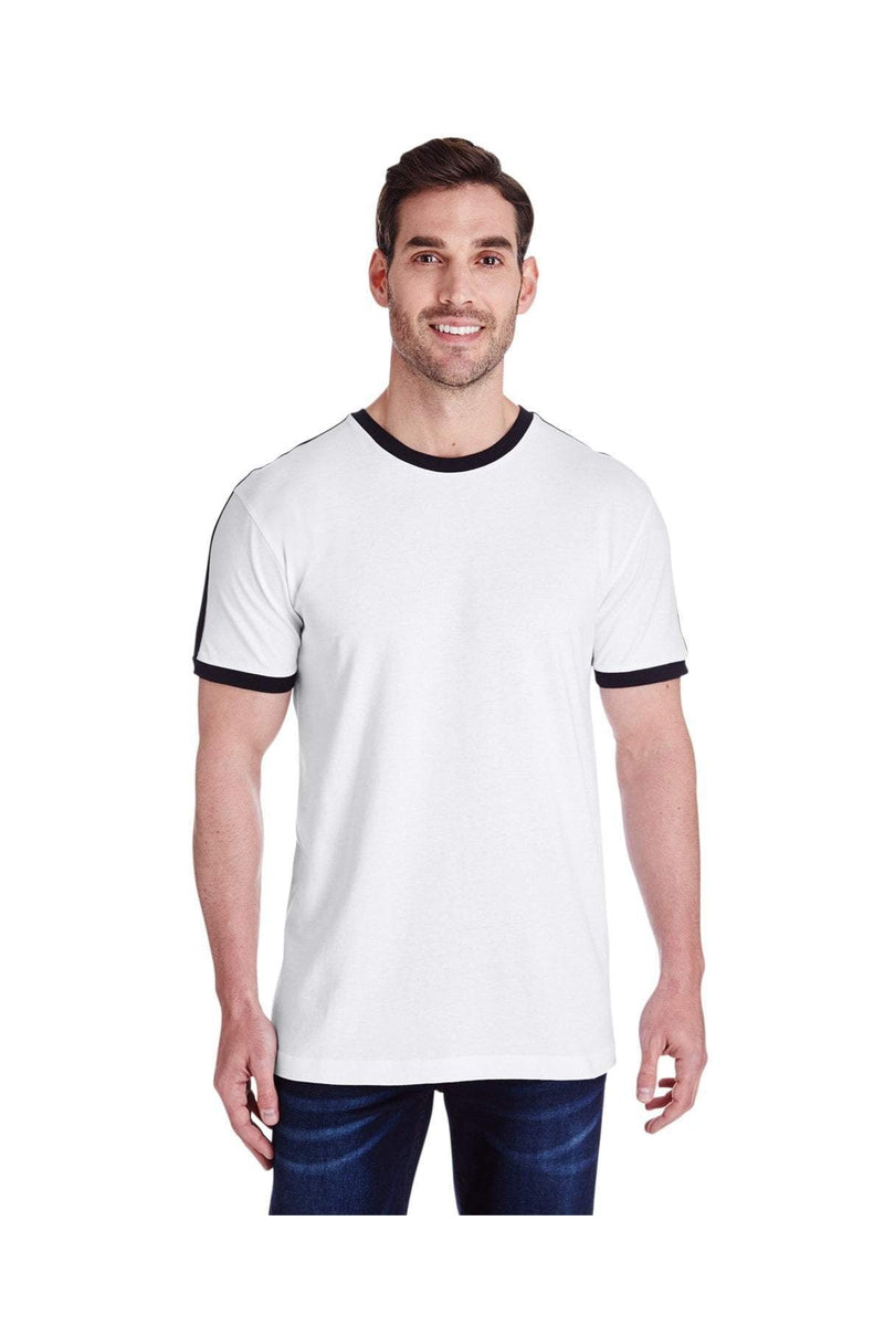 LAT 6932: Men's Soccer Ringer Fine Jersey T-Shirt-T-Shirts-Bulkthreads.com, Wholesale T-Shirts and Tanks