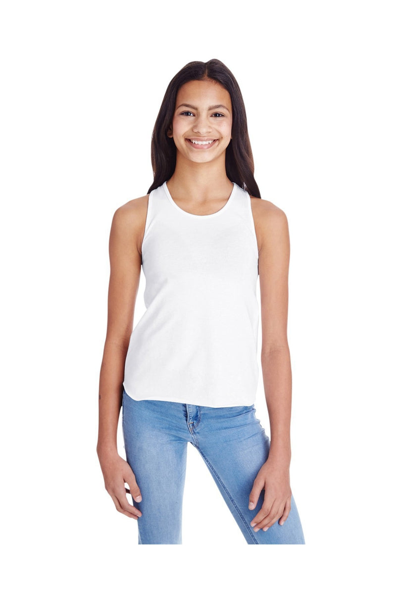 LAT LA2621: Girls' Relaxed Racerback Premium Jersey Tank-T-Shirts-Bulkthreads.com, Wholesale T-Shirts and Tanks
