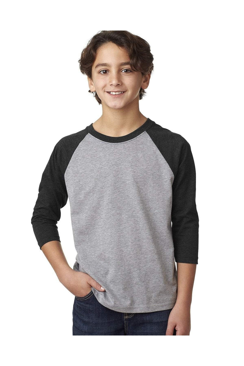 Next Level 3352: Youth CVC 3/4-Sleeve Raglan-T-Shirts-Bulkthreads.com, Wholesale T-Shirts and Tanks