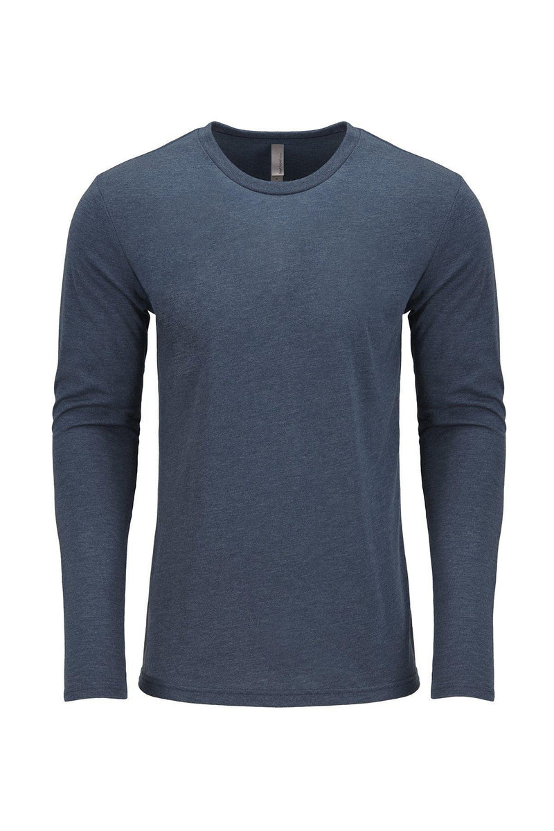 Next Level 6071: Men's Triblend Long-Sleeve Crew-T-Shirts-Bulkthreads.com, Wholesale T-Shirts and Tanks