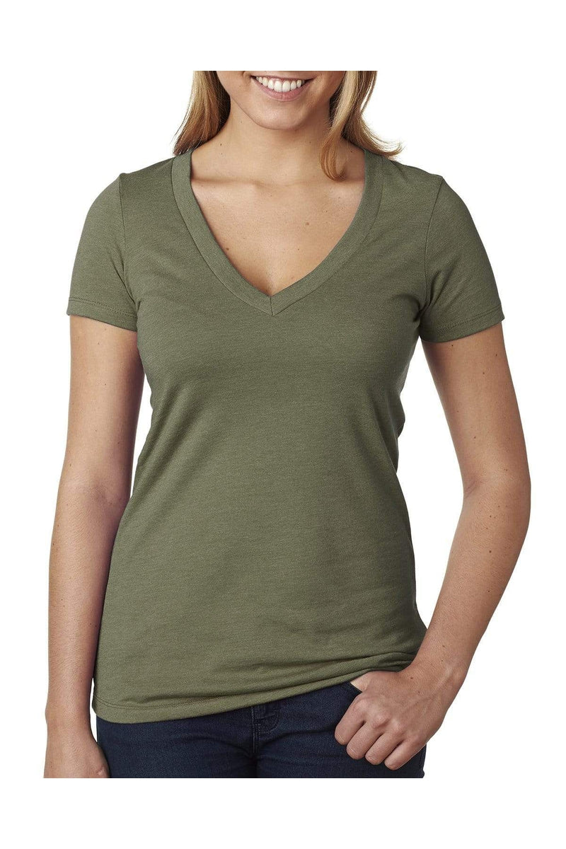 Next Level 6640: Ladies' CVC Deep V, Basic Colors-T-Shirts-Bulkthreads.com, Wholesale T-Shirts and Tanks