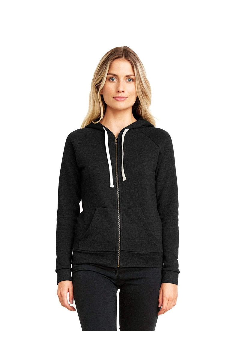 Next Level 9603: Ladies' PCH Raglan Zip Hoody-Next Level-Bulkthreads.com