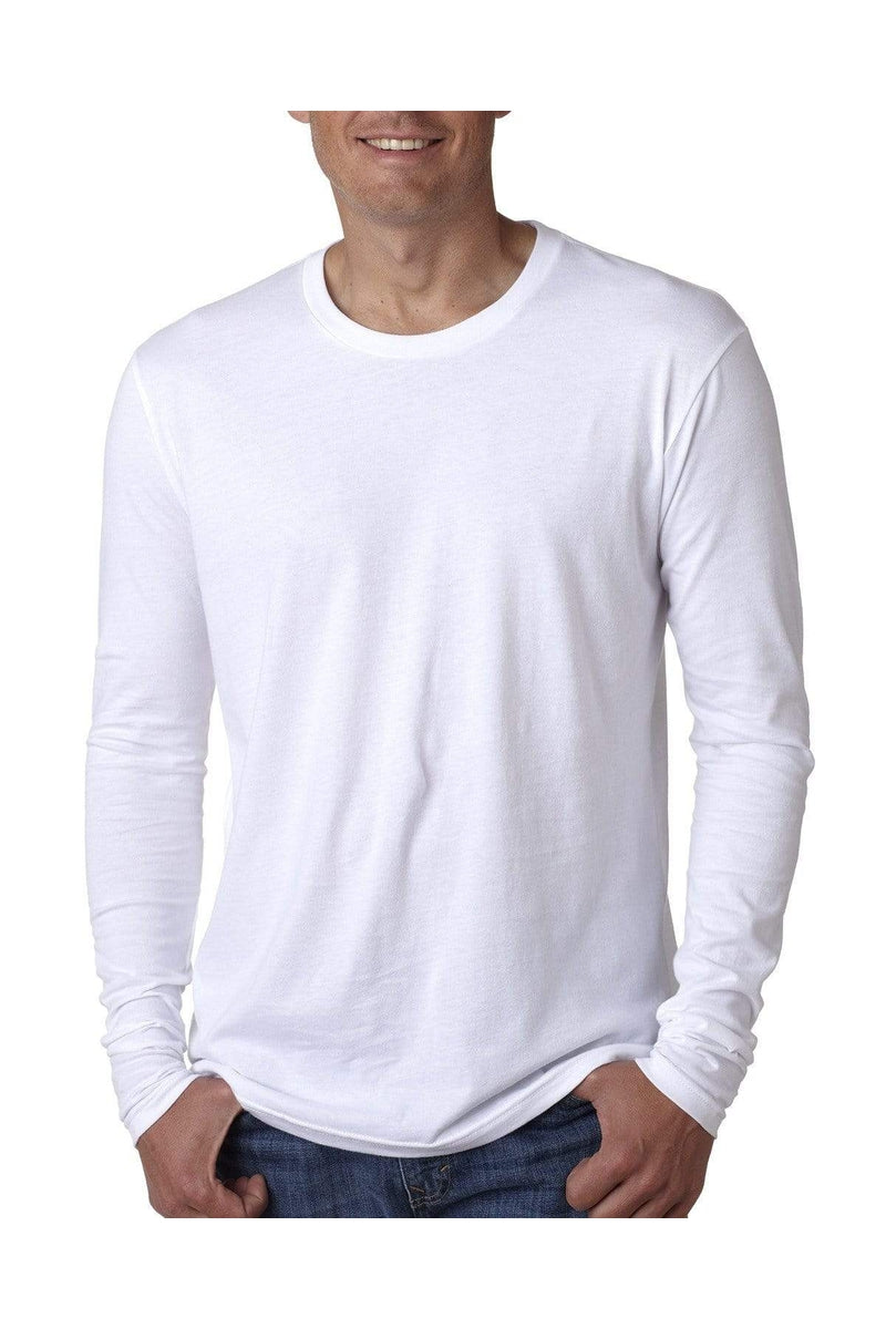 Next Level N3601: Men's Cotton Long-Sleeve Crew-T-Shirts-Bulkthreads.com, Wholesale T-Shirts and Tanks