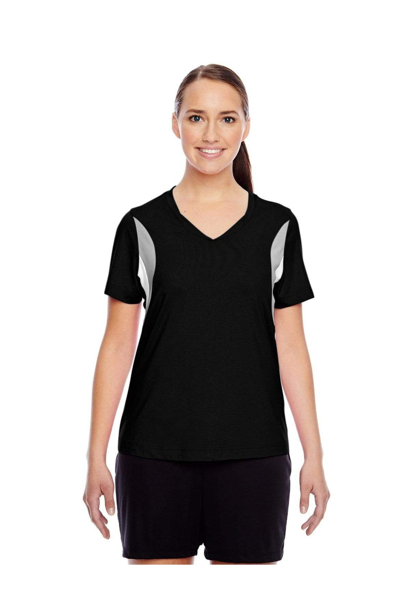 Team 365 TT10W: Ladies' Short-Sleeve Athletic V-Neck Tournament Jersey-T-Shirts-Bulkthreads.com, Wholesale T-Shirts and Tanks