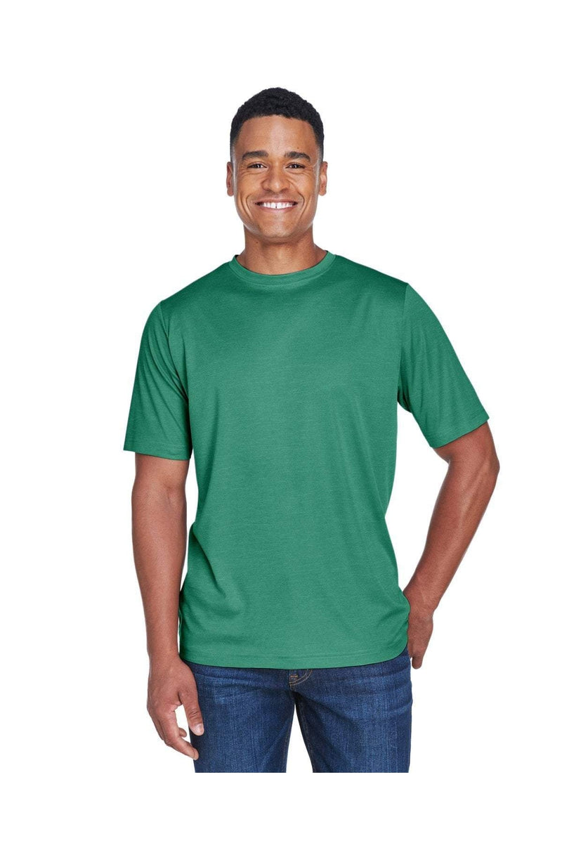Team 365 TT11H: Men's Sonic Heather Performance T-Shirt-T-Shirts-Bulkthreads.com, Wholesale T-Shirts and Tanks
