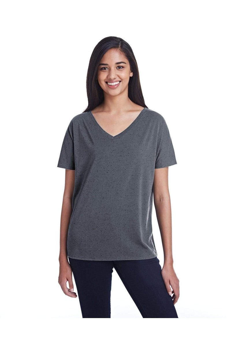 Threadfast Apparel 203FV: Ladies' Triblend Fleck Short-Sleeve V-Neck T-Shirt-T-Shirts-Bulkthreads.com, Wholesale T-Shirts and Tanks