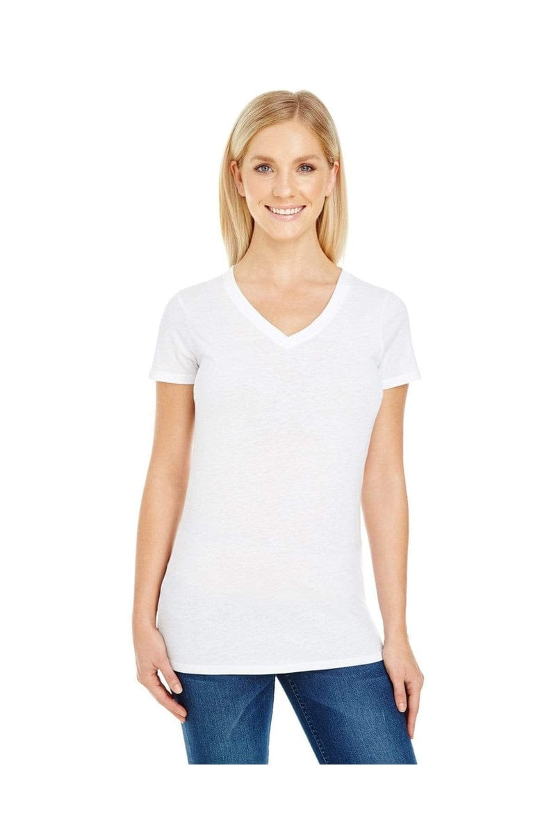Threadfast Apparel 230B: Ladies' Pigment-Dye Short-Sleeve V-Neck T-Shirt-T-Shirts-Bulkthreads.com, Wholesale T-Shirts and Tanks
