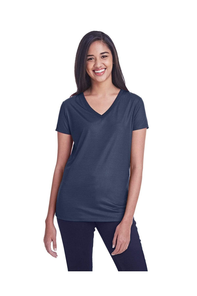 Threadfast Apparel 240RV: Ladies' Liquid Jersey V-Neck T-Shirt-T-Shirts-Bulkthreads.com, Wholesale T-Shirts and Tanks