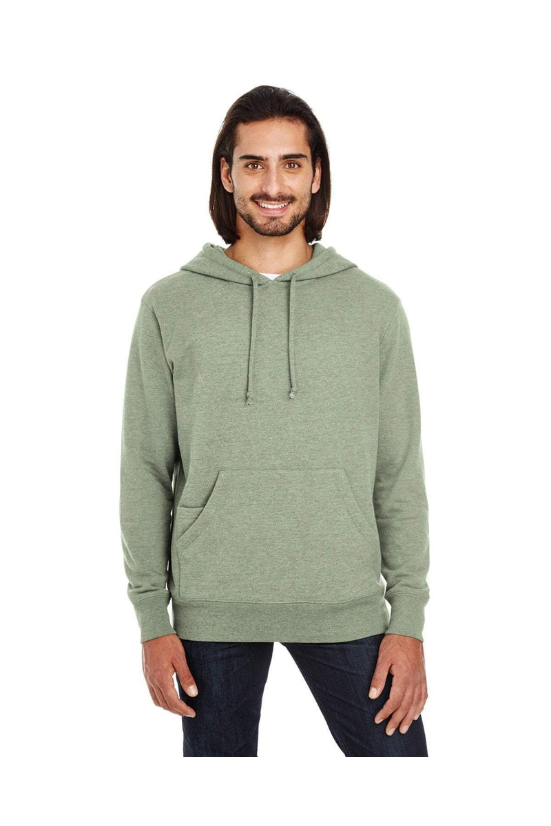 Threadfast Apparel 321H: Unisex Triblend French Terry Hoodie-Threadfast Apparel-Bulkthreads.com