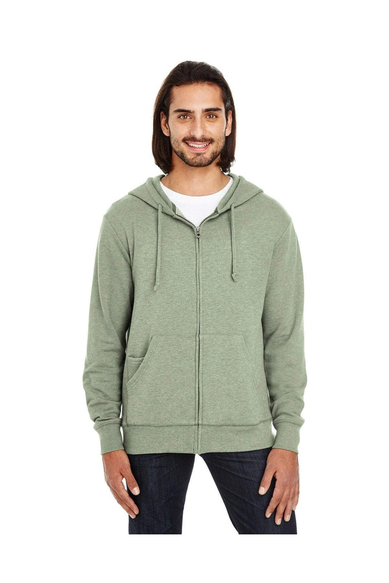 Threadfast Apparel 321Z: Unisex Triblend French Terry Full-Zip-Sweatshirts-Bulkthreads.com, Wholesale T-Shirts and Tanks