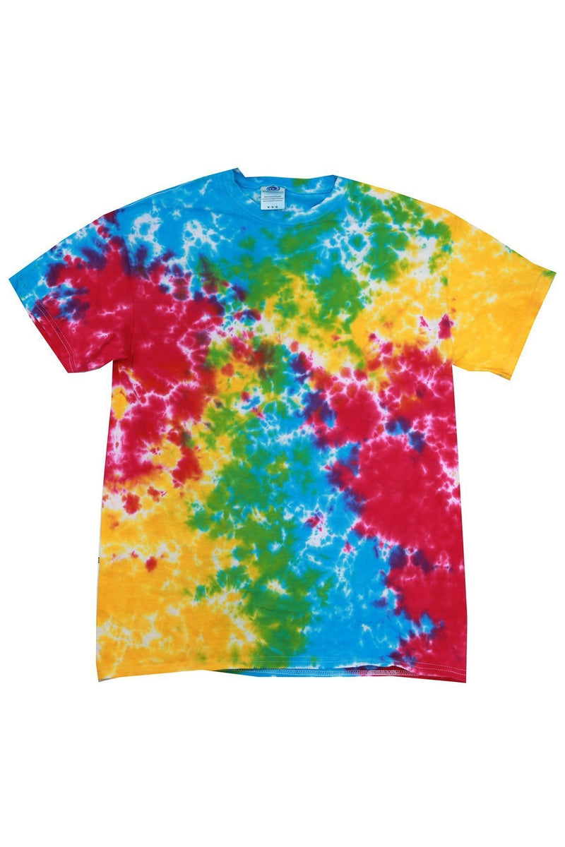 Tie-Dye CD100Y: Youth 5.4 oz. 100% Cotton T-Shirt, Traditional Colors-Tie-Dye-Bulkthreads.com
