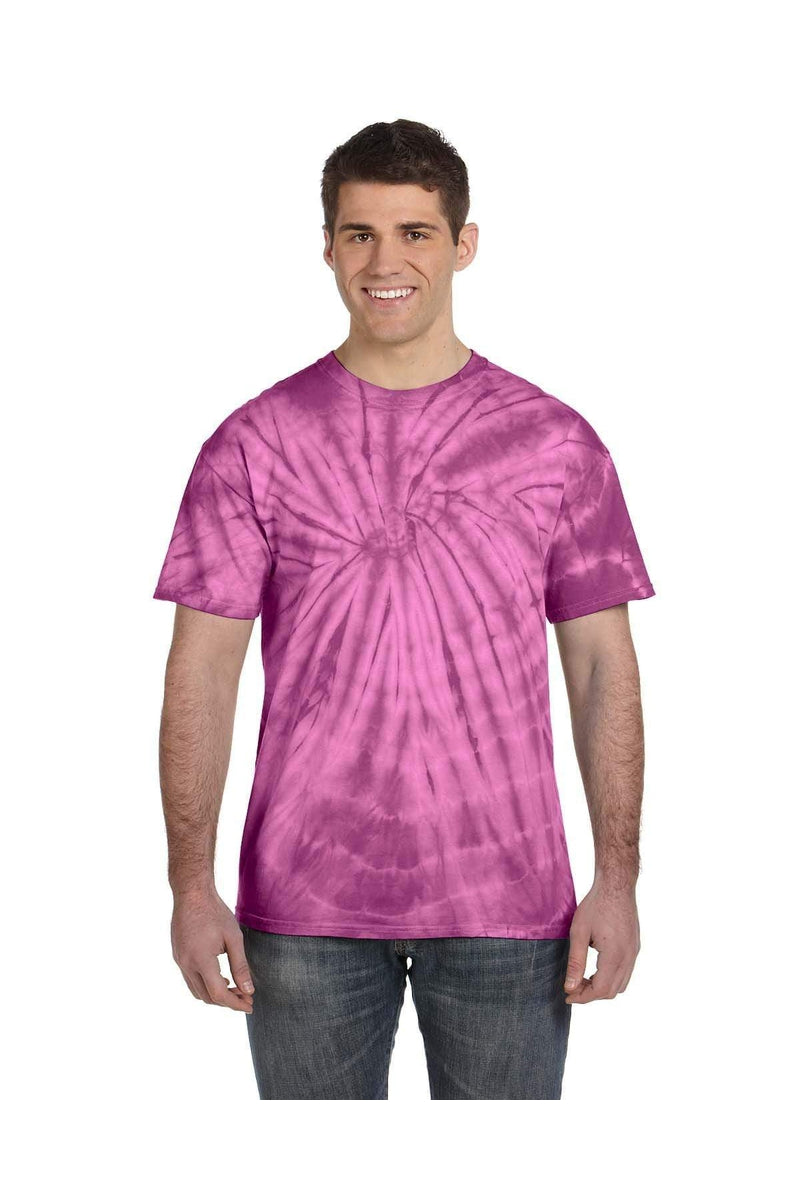 Tie-Dye CD101: Adult 5.4 oz. 100% Cotton Spider T-Shirt-T-Shirts-Bulkthreads.com, Wholesale T-Shirts and Tanks