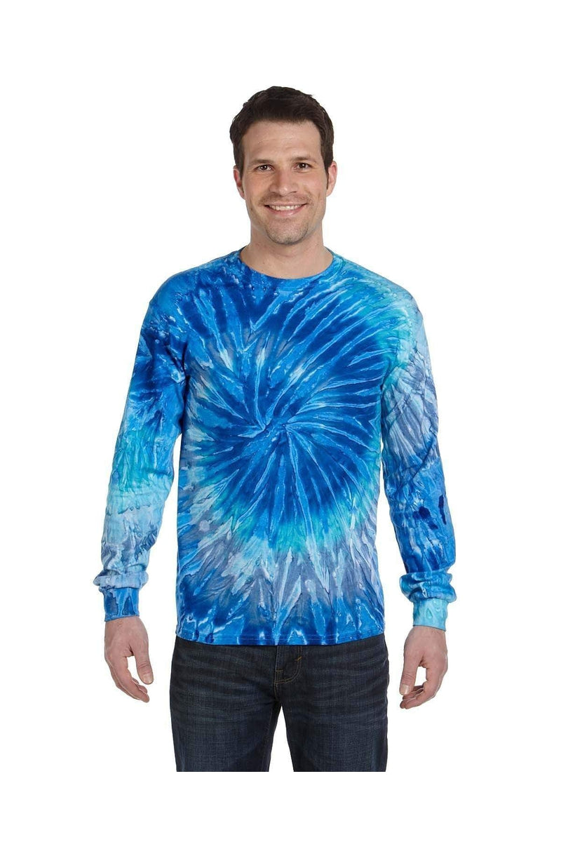 Tie-Dye CD2000: Adult 5.4 oz. 100% Cotton Long-Sleeve T-Shirt-T-Shirts-Bulkthreads.com, Wholesale T-Shirts and Tanks