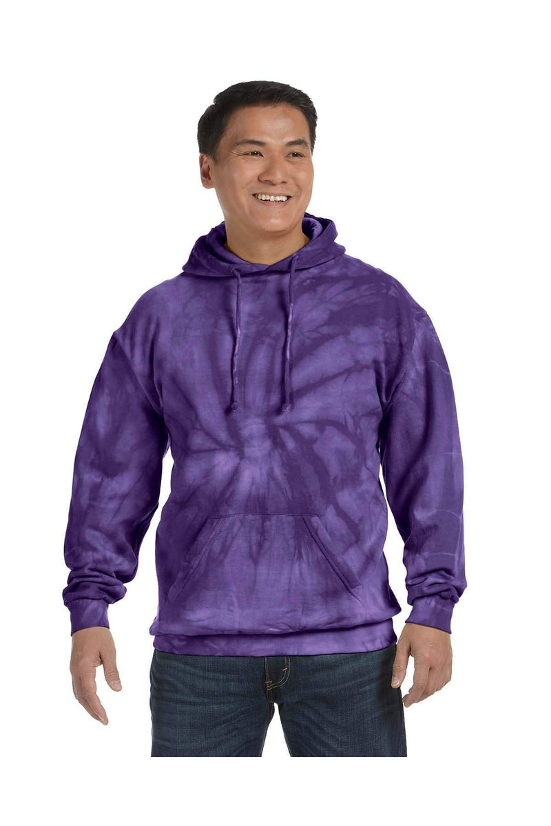 Tie-Dye CD877: Adult 8.5 oz. Tie-Dyed Pullover Hood, Basic Colors-Tie-Dye-Bulkthreads.com