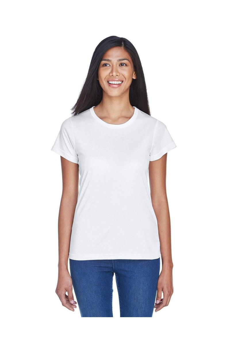 UltraClub 8420L: Ladies' Cool & Dry Sport Performance Interlock T-Shirt, Traditional Colors-T-Shirts-Bulkthreads.com, Wholesale T-Shirts and Tanks