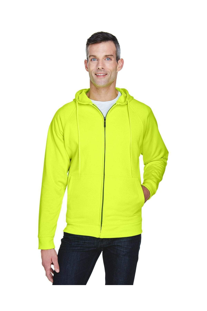 UltraClub 8463: Adult Rugged Wear Thermal-Lined Full-Zip Hooded Fleece-UltraClub-Bulkthreads.com