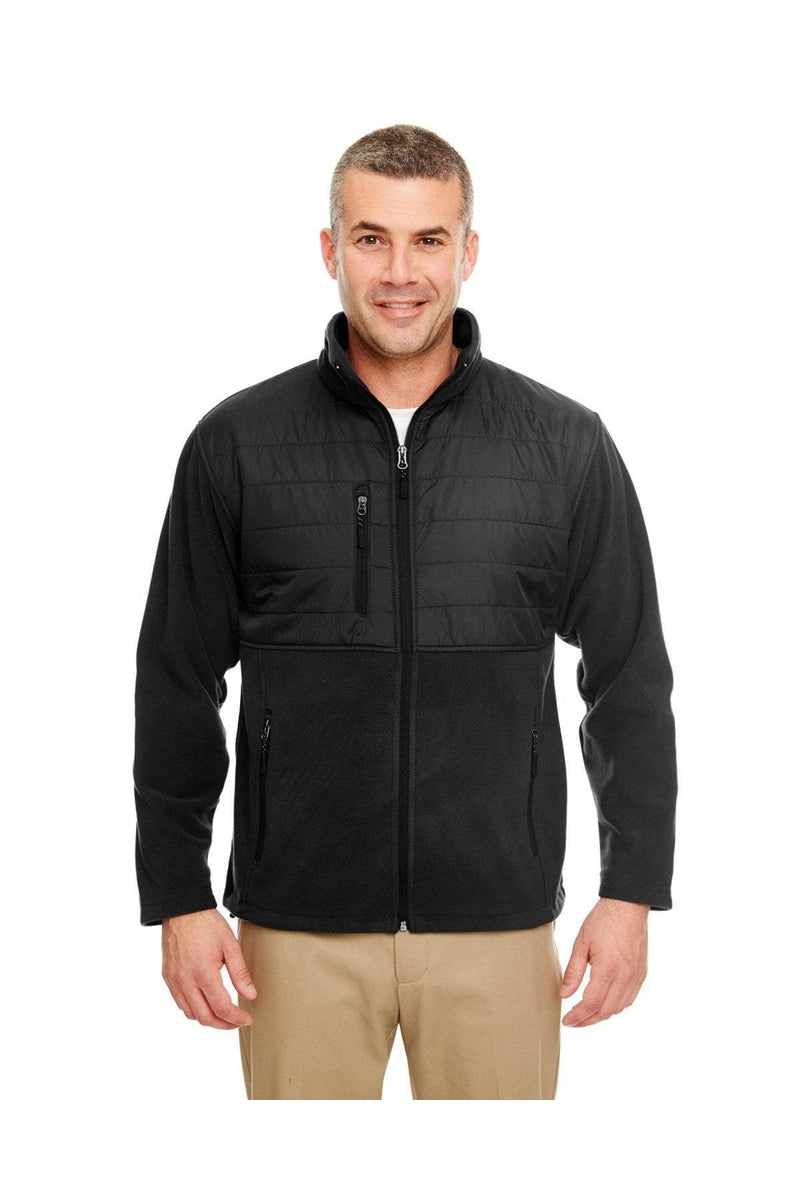 UltraClub 8492: Men's Fleece Jacket with Quilted Yoke Overlay-Fleece-Bulkthreads.com, Wholesale T-Shirts and Tanks