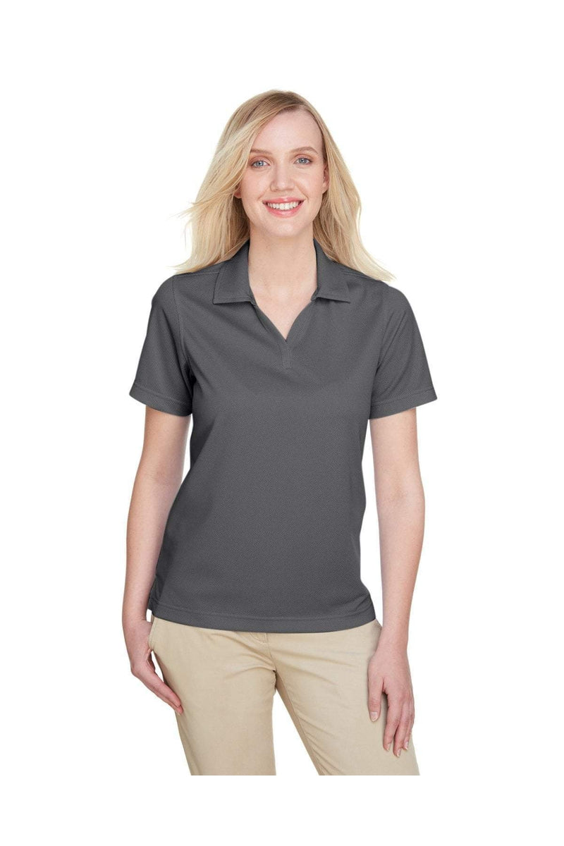 UltraClub UC102W: Ladies' Cavalry Twill Performance Polo-UltraClub-Bulkthreads.com