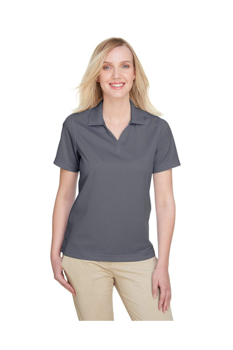 UltraClub UC102W: Ladies' Cavalry Twill Performance Polo-Polos-Bulkthreads.com, Wholesale T-Shirts and Tanks