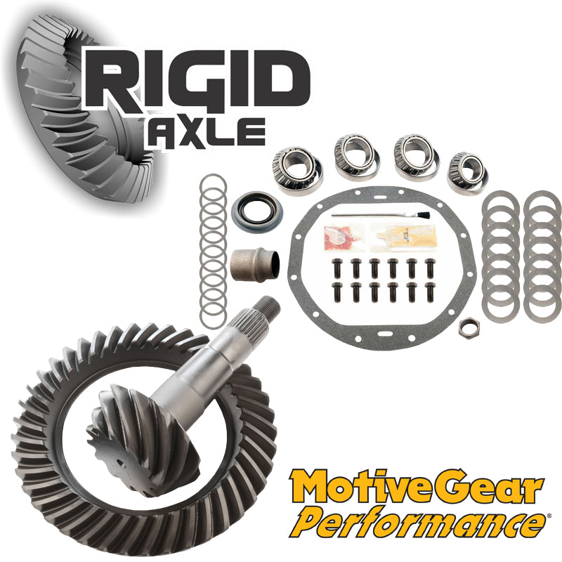 GM 8.875 12 Bolt Motive High Performance Ring and Pinion Gear Set Package with Master Bearing Install Kit