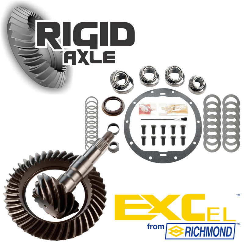 GM 8.6 10 Bolt Richmond Excel Ring and Pinion Gear Set Package with Master Bearing Install Kit