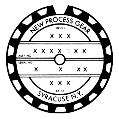 New Process Gear Logo