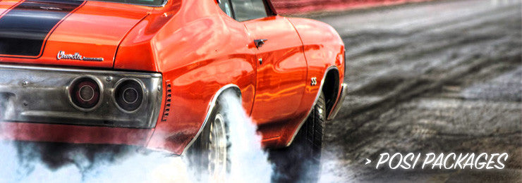 Positraction Package with orange chevelle doing burnout