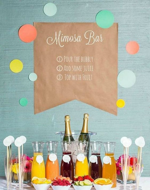 3 Steps to Assemble a Cute Mimosa Bar