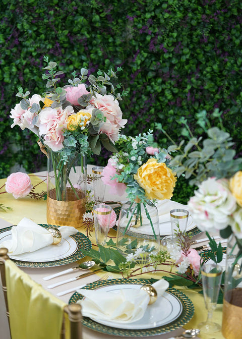 Soak the Summer Sun with Our Refreshing Garden Party Tablescape
