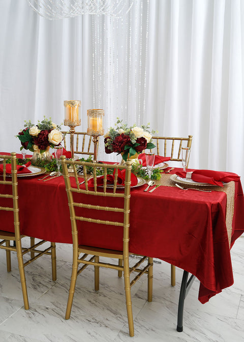Santa Approved Red and Gold Christmas Table Decorations