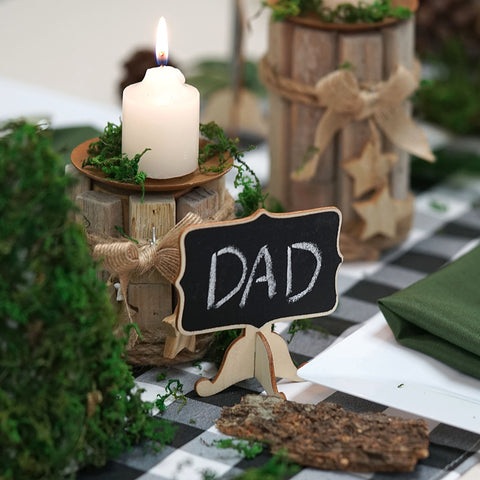 Woodland Theme Setup for Your Father