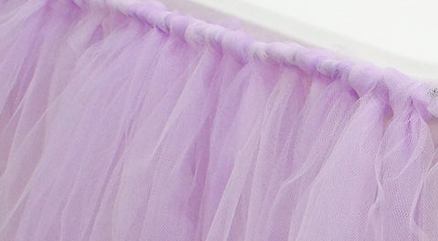 Create your Own No-Sew Tulle Table Skirt!
