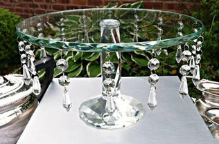 Egyptian Cut Crystal Stands