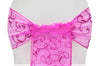 Embroidered Organza Chair Sashes